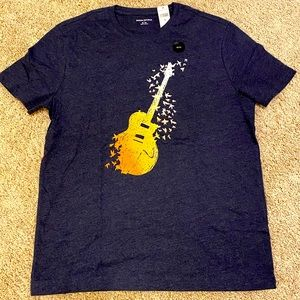 🎸 Banana Republic Men's Guitar T-Shirt NWT
